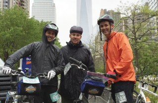 The three Kelly brothers, who grew up in Pacific Palisades, raised money for Cancer Cure by biking through the five boroughs of New York City.