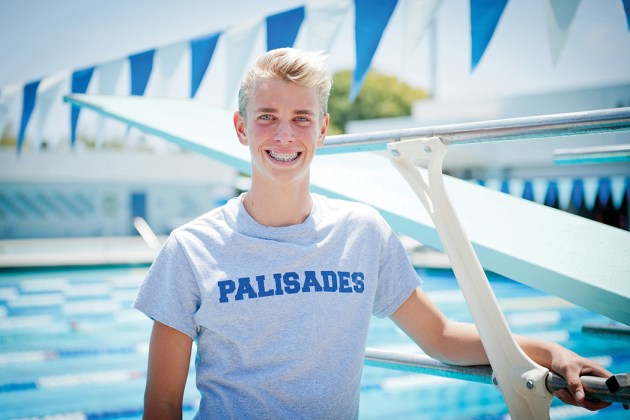 Asa Tatro tried diving for the first time this spring and qualified for the state meet. Photo: Lesly Hall