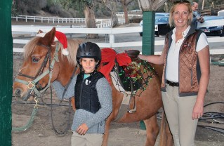 Cooper North and Daisy the Horse are under the supervision of Dorte Lindegaard Wolf. Photo: Wendy Price Anderson
