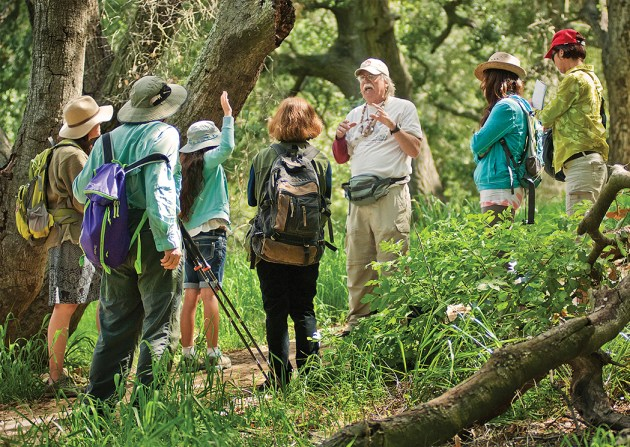 Topanga Park docent Peter Rice provides insights into Chumash culture and their rich use of the natural gifts of the Santa Monica Mountains. Photo: Roy Jansen