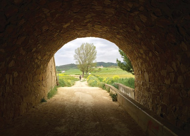 A tunnel on Carol Sanborn's 620-mile odyssey along the Camino de Santiago. Photo: Carol Sanborn