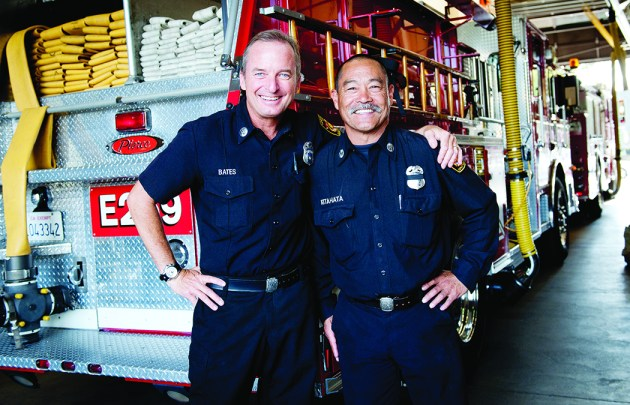 B Platoon captains Robert Bates and Tom Kitahata