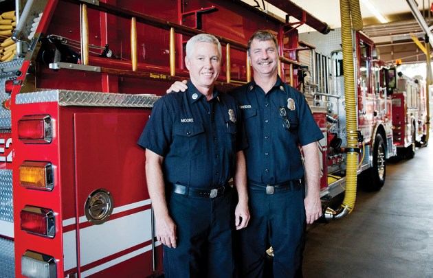 C Platoon captains Tom Moore and Erik Schneider
