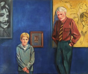 R.B. Kitaj and his son Max in a portrait by mother-in-law and grandmother Ethel Fisher.