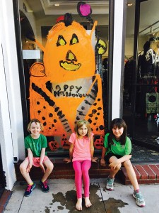 Pumpkin Pie was painted by (left to right) Amelia Halpin, Vanessa Masterson and Sienna Nocas.