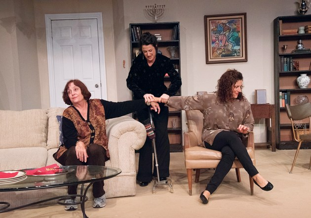 Lois Bostwick, Kim Kensington and Lauren Leitner in a scene from The Tale of the Allergist's Wife at the Pierson Playhouse.Photo: Joy Daunis