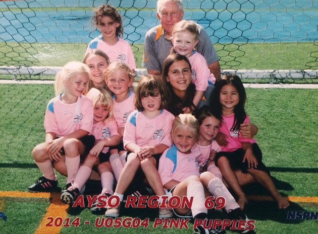 Britt and Kristiane Alphson coached the Pink Puppies soccer team.