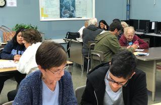 Tech tutoring at Palisades Charter High School