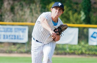Jared Brecher pitched the first five innings against Hamilton. Photo: Lesly Hall Photography