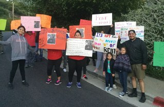 Protestors brought their rent increase dispute to the Highlands. Photo courtesy of Palisades Patrol