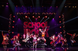 """Rob Colletti and the kids in """"School of Rock: The Musical"""" at the Pantages explode with fun. Credit: Matthew Murphy"""