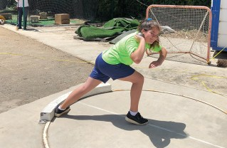 Christine Chambers, who goes to school in Malibu, won the shot-put competition.