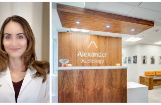 Dr. Melissa Alexander (left) and her audiology practice (right) in Santa Monica. Photos: Courtesy.