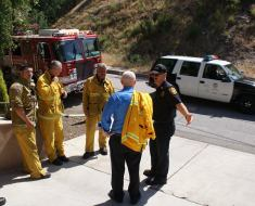 Evacuation Drill in Mandeville Canyon Sunday