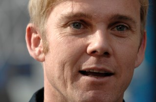 Golden Globe Winning Actor Rick Schroder speaks on his love of military aviation after providing opening comments for the proclamation ceremonies of Air Force Week-Los Angeles Nov. 14 at Hollywood and Highland Plaza in Los Angeles. The ceremonies include performances by the Air Force Honor Guard Drill Team and Air Force Band of the Golden West with flyovers by several different Air Force aircraft and interactive expos. Air Force Week-Los Angeles is Nov. 14 to 21 and has events throughout the area.  (U.S. Air Force photo/Staff Sgt. Bennie J. Davis III)