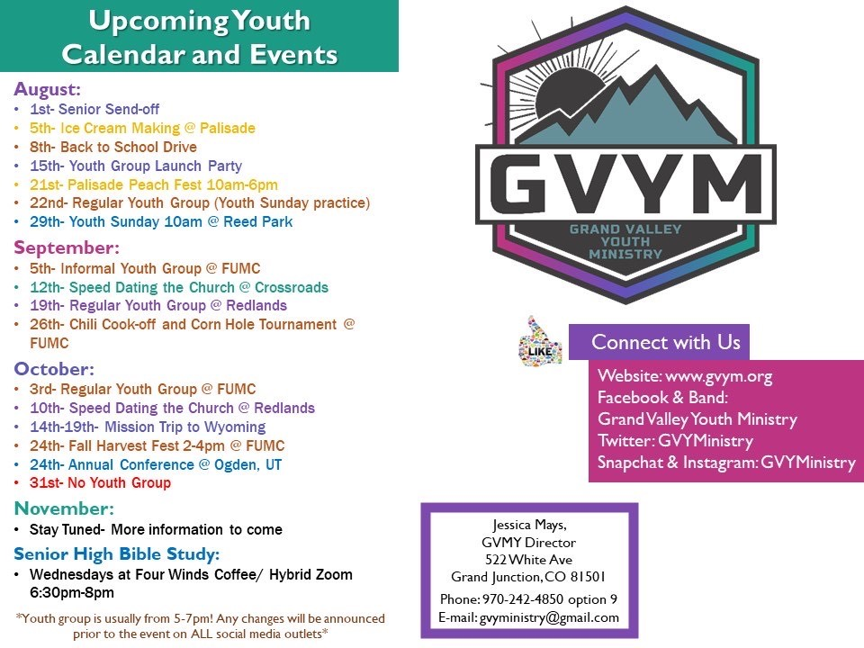Grand Valley Methodist Youth
