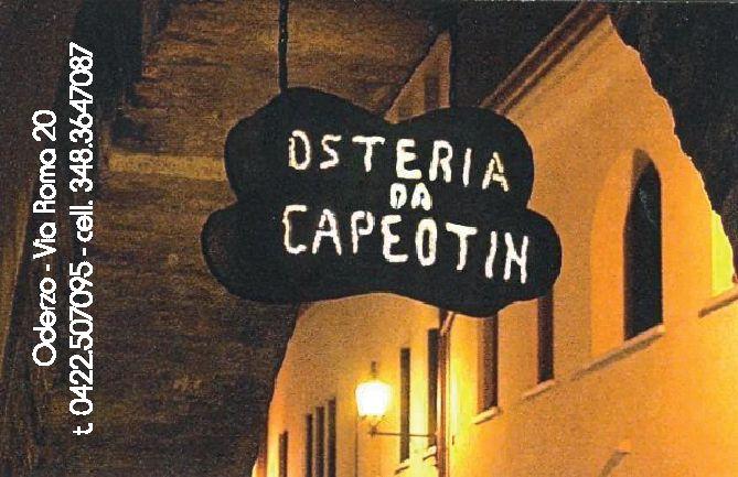 OSTERIA DA CAPEOTIN - Sconto 10% per consumazioni superiori a 10 €