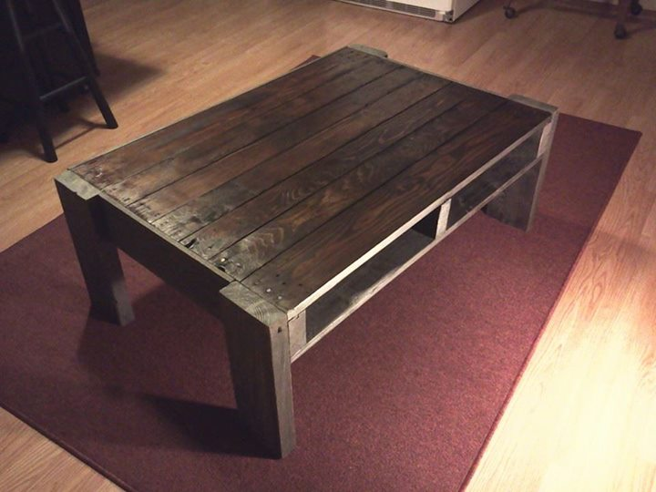 DIY Recycled Pallets Coffee Table Project Pallet Ideas