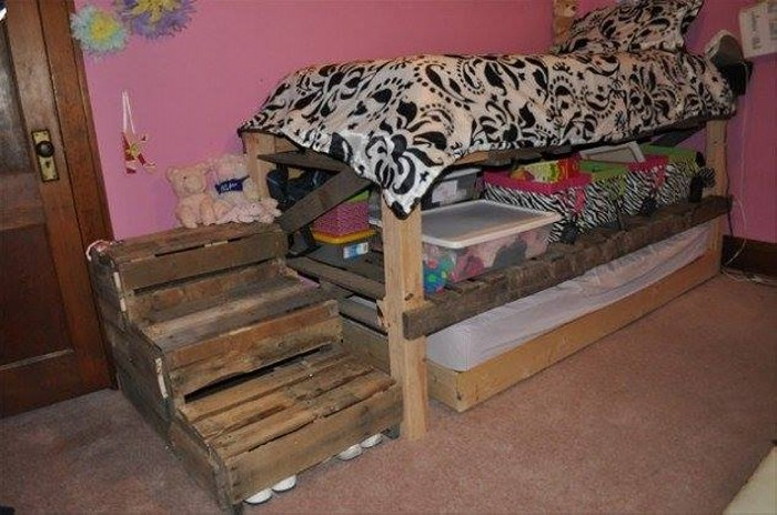 Cute Pallet Projects for Kids | Pallet Ideas on Pallet Bed Room  id=66160
