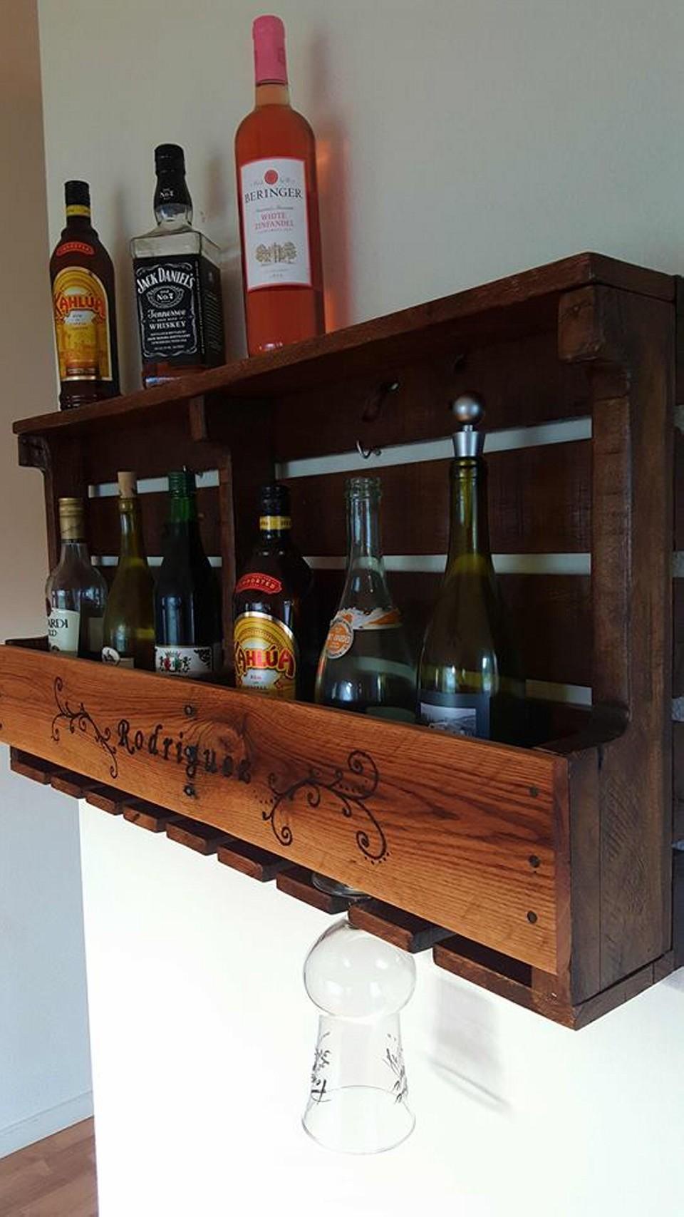 Pallet Rustic Wine Rack in Wood Burned Design | Pallet Ideas on Pallet Design Ideas  id=65345
