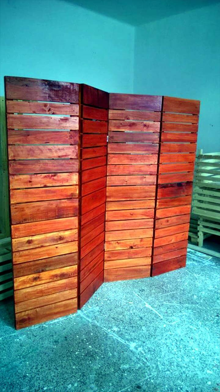DIY Upcycled Pallet Room Divider - Pallets Pro on Pallet Room  id=69629
