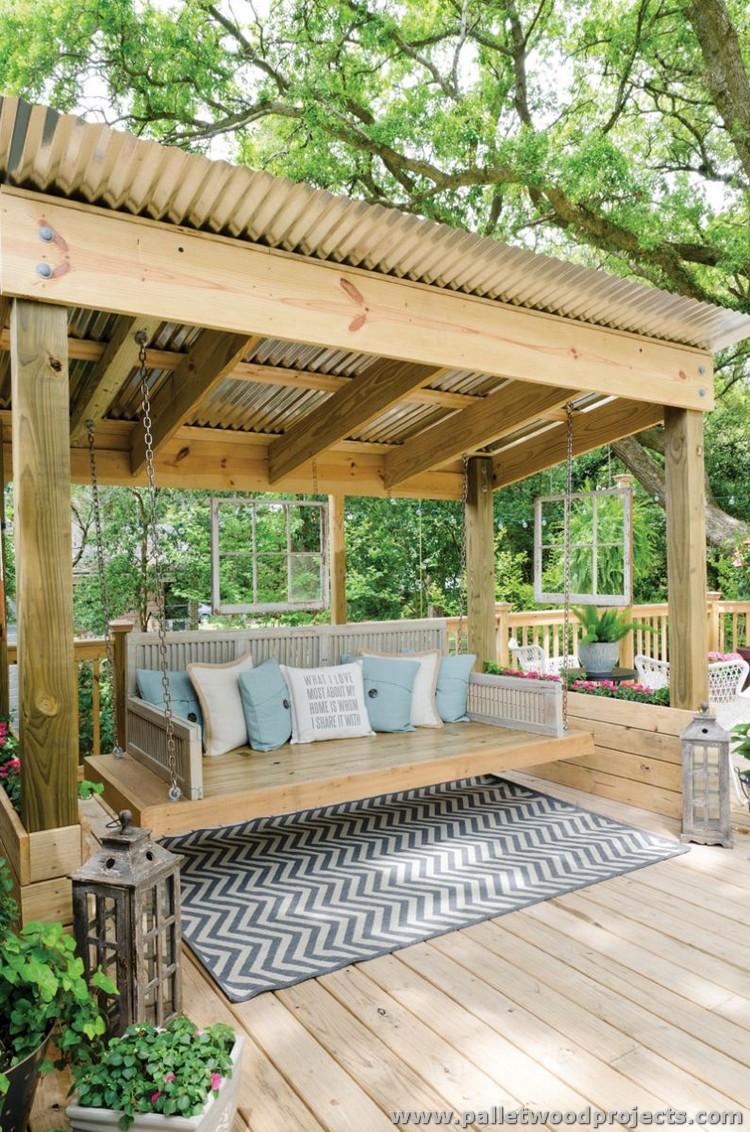 Gorgeous Wooden Pallet Ideas | Pallet Wood Projects on Backyard Wood Patio Ideas id=64569