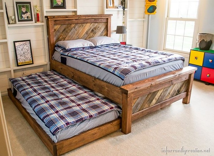 Recycled Wood Pallet Bed Ideas Pallet Wood Projects