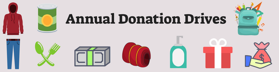Annual Donation Drives