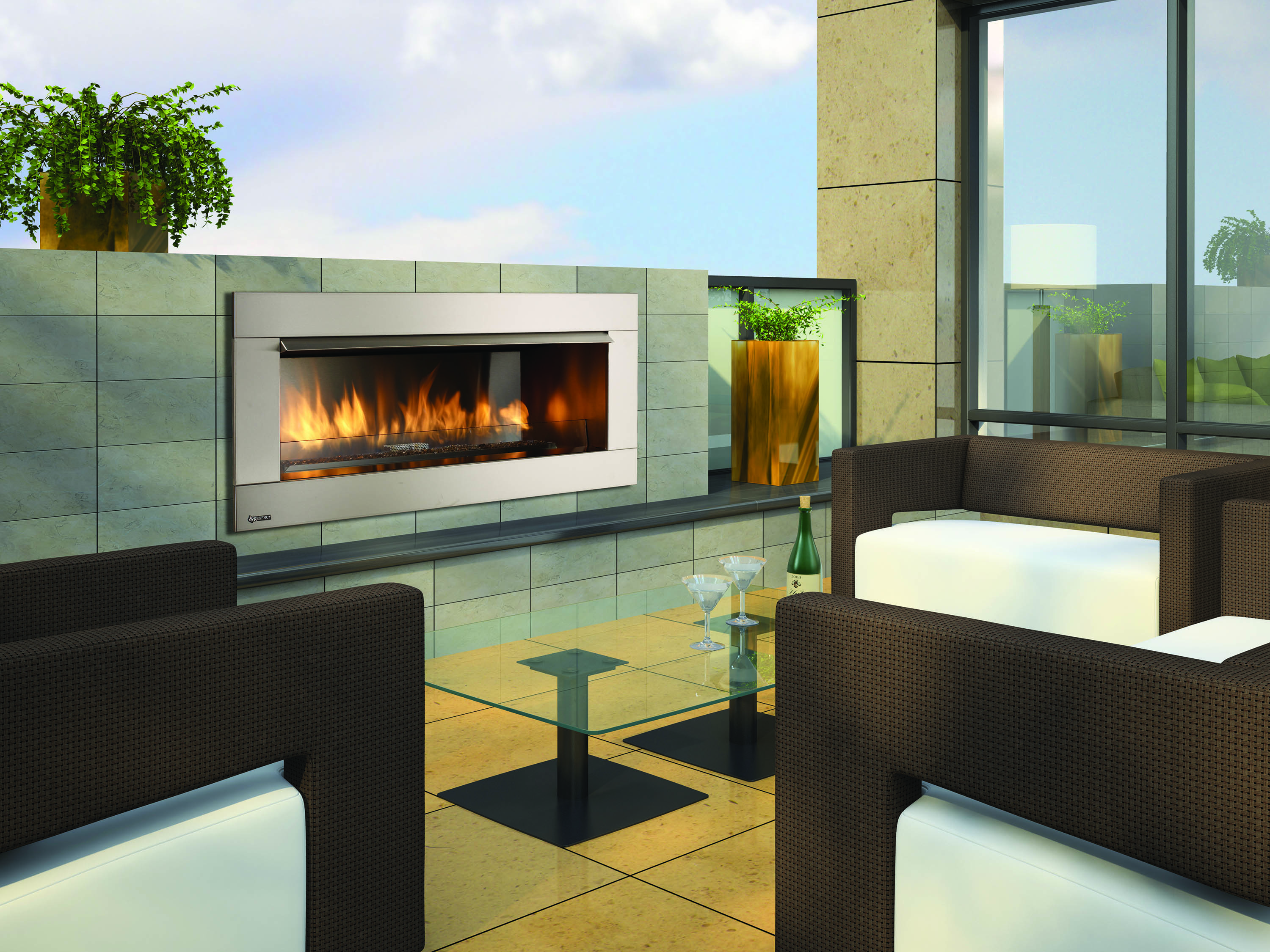 Regency Gemfire Hzo42 Outdoor Gas Fireplace