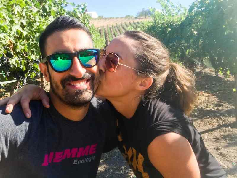 Kisses in the Vineyard