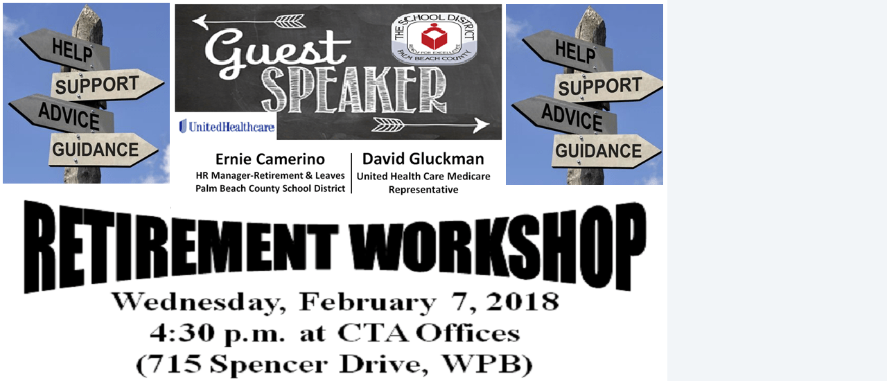 Retirement Workshop with Guest Speaker Ernie Camerino and UCH Representatives