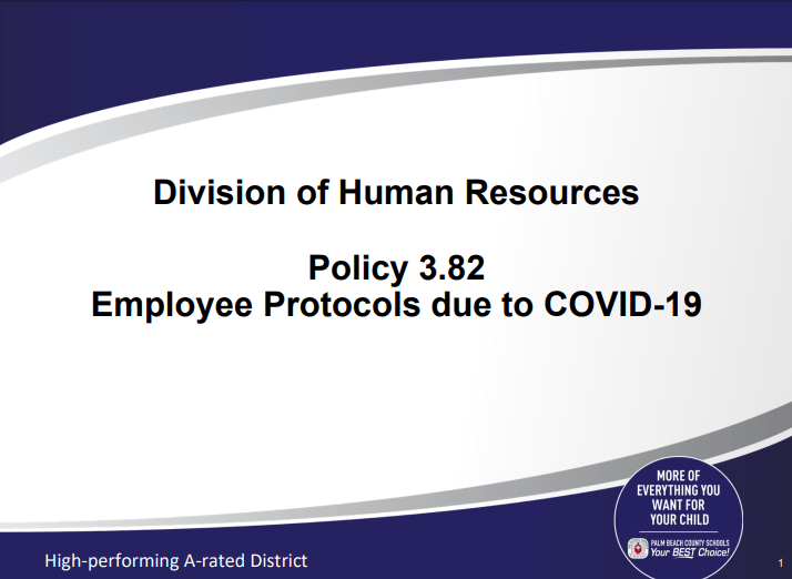 SDPBC Policy 3.82 – Employee Protocols due to COVID-19 (8/14/2020)