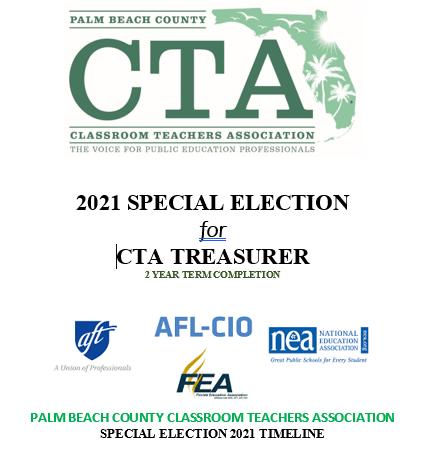 2021 CTA Treasurer Special Election Nomination/Timeline Packet