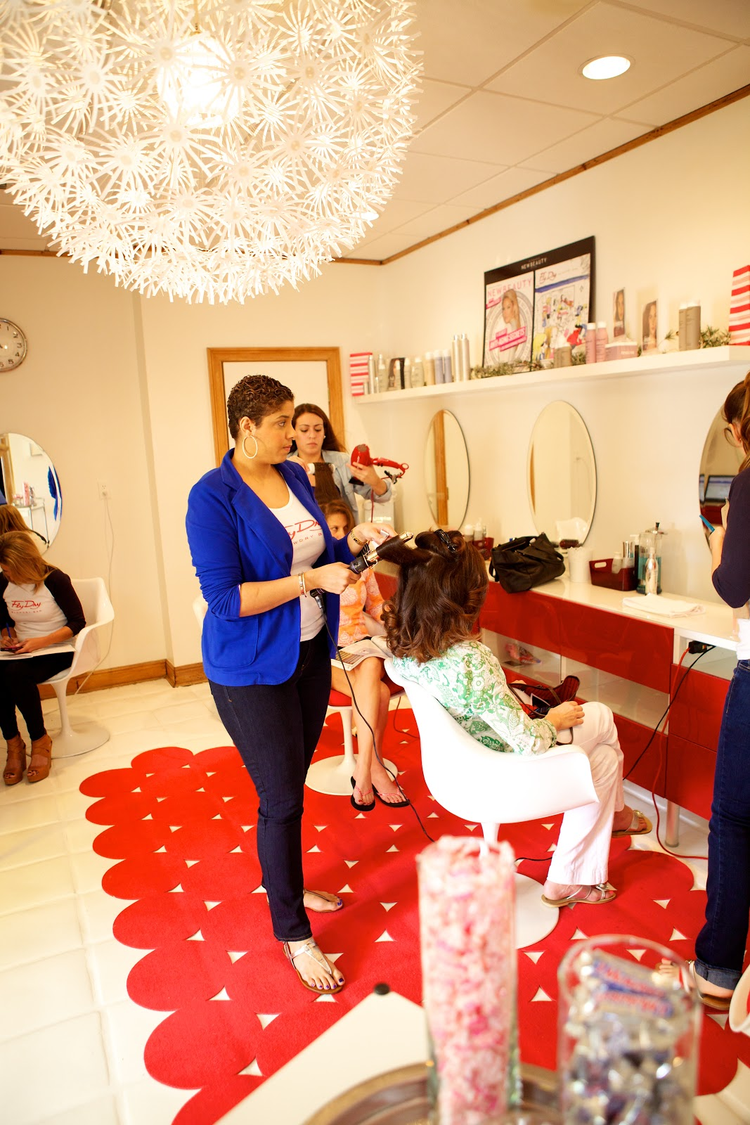 Beauty FlyDry Blowdry Bar Palm Beach Launch Party Palm