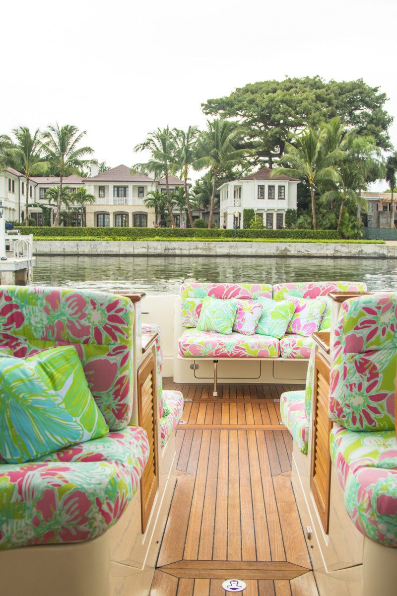 Lilly Pulitzer X Barton Amp Grays NEW Hinckley Yacht Palm