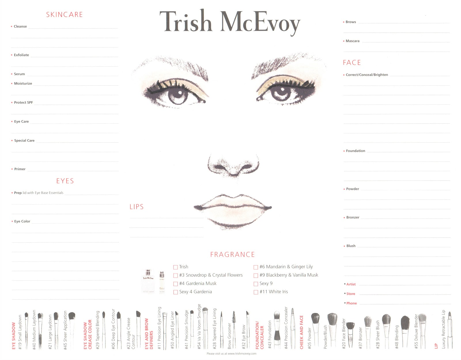 Makeup Consultation Form Template