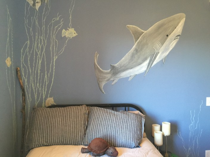 Shark themed nautical bedroom