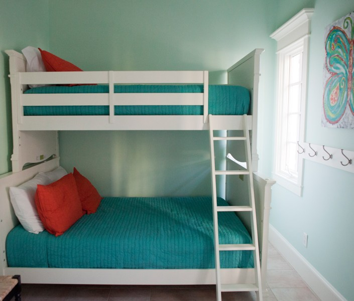 Nautical bunk beds - seafoam green and blue