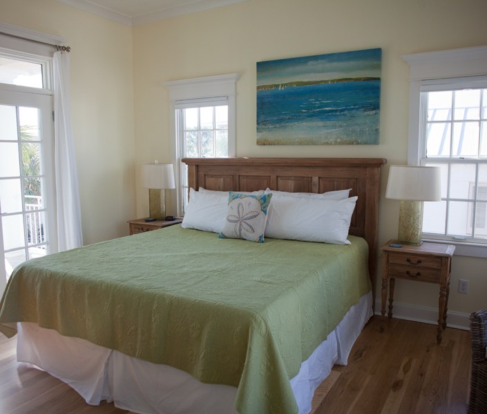Generations beach house bedroom green