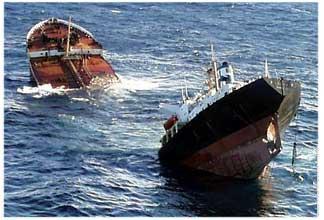 La nave affonda
