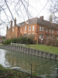 Southgate Town Hall from the New River December 2012 Image Sue Beard