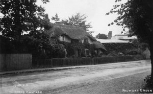 The Thatched Cottage in 1903, image by kind permission of Enfield Local Studies and Archive