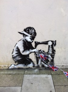 Slave Trade by Banksy, photo Luke Giles