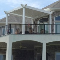 Premier Pergola opens and closes. Close to protect patio from sun and rain.