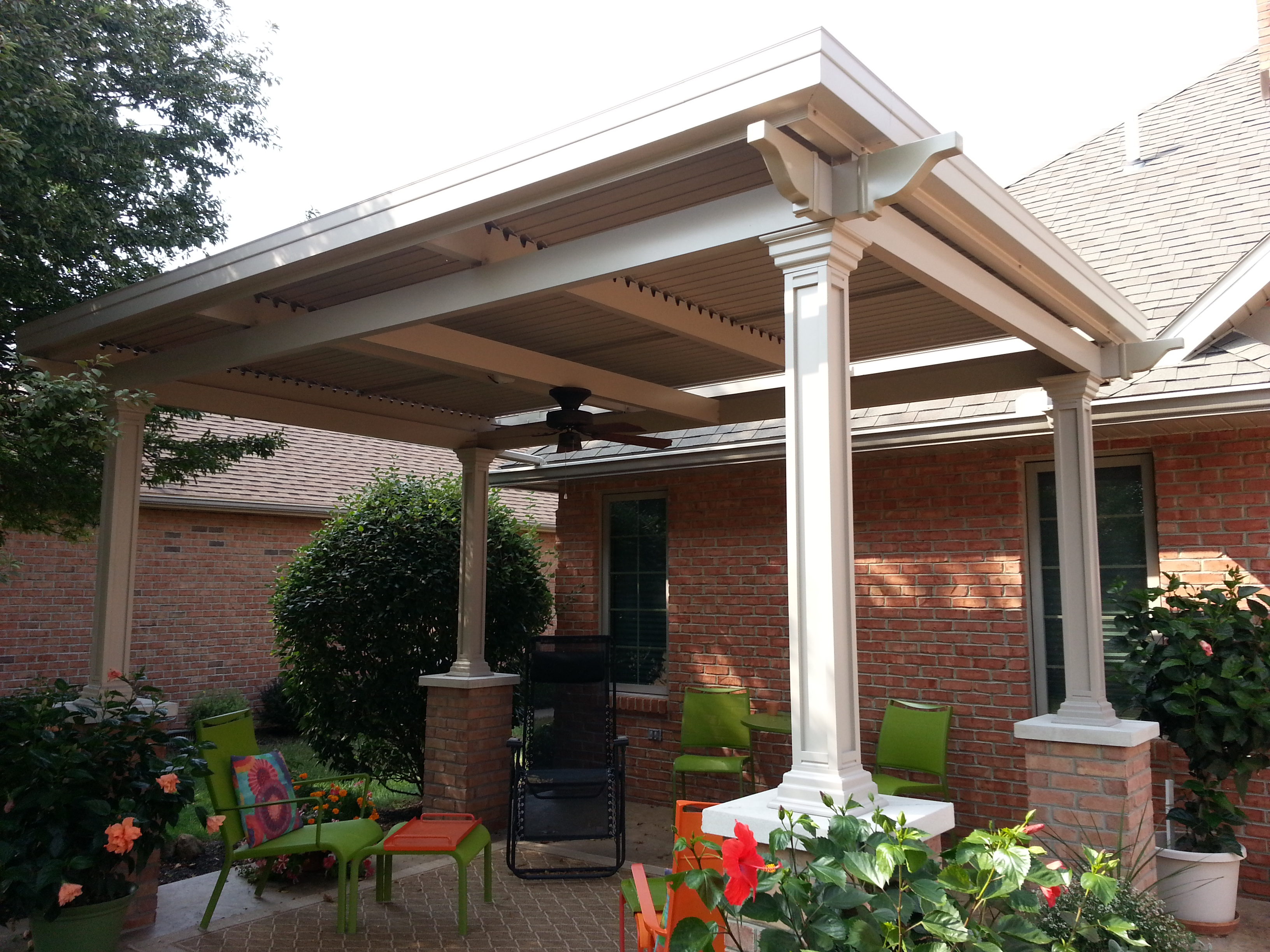 Add a freestanding louvered patio cover over your deck or ... on Patio Cover Ideas For Rain id=65419
