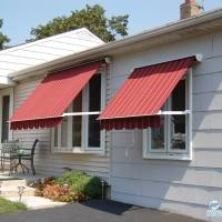 Red Window Awnings
