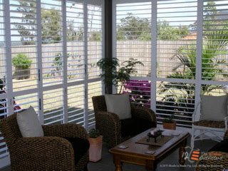 Home with open shutters
