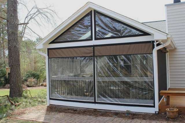 Clear roll up porch curtains curtain menzilperde net for Roll up screen porch