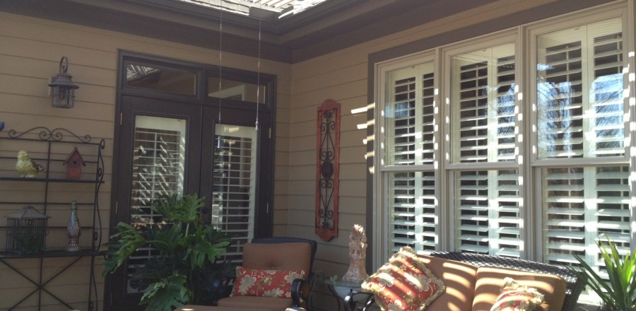 Louvered Roof patio cover installed in Simpsonville, SC.