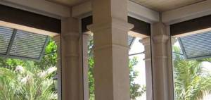 Fenetex retractable screens seal to keep out insects. They roll up out of the way when not needed.